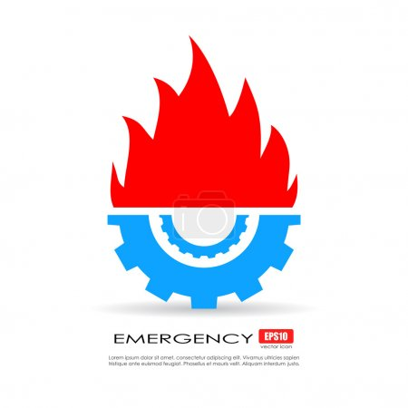 Emergency service technical icon