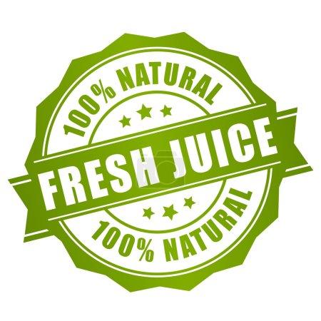 Illustration for Natural fresh juice label on white background - Royalty Free Image
