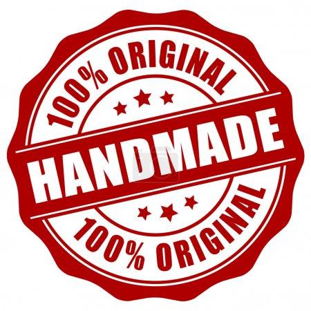 Illustration for Handmade stamp on white background - Royalty Free Image