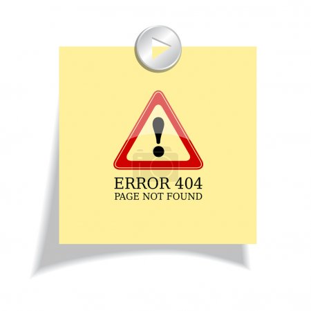 Error 404 sign, page not found