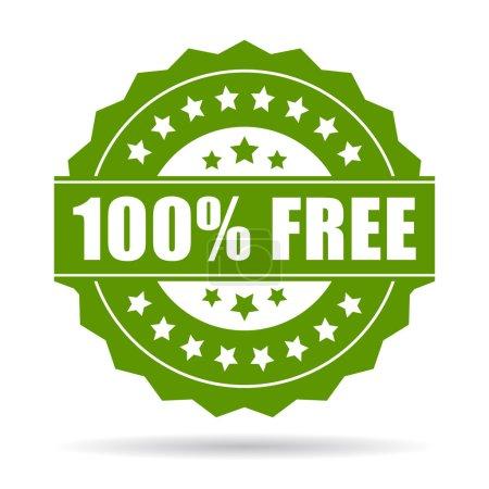 Illustration pour 100 icône gratuite sur fond blanc - image libre de droit