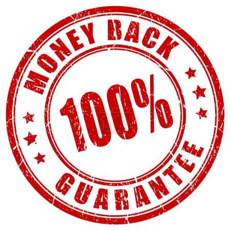 Money back 100 guarantee stamp