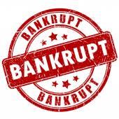 Bankrupt vector stamp