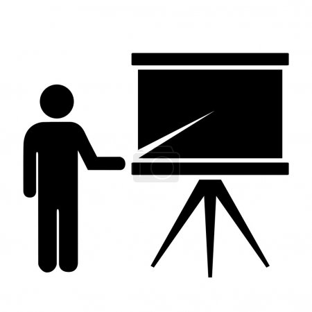 Trainer or lecturer icon