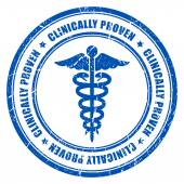 Clinically proven ink rubber stamp