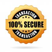 100 secure transaction icon