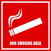 Non smoking area sign