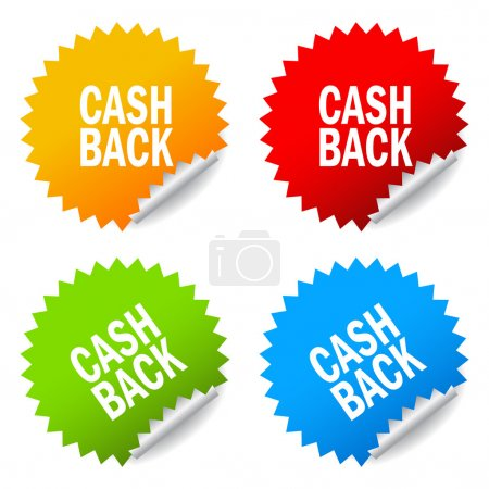 Cash back sticker