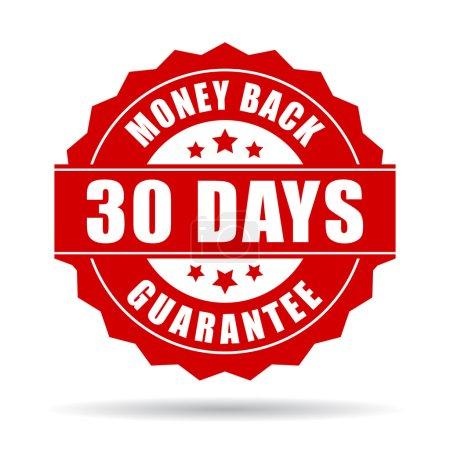 Illustration for 30 days money back guarantee icon illustration isolated on white background - Royalty Free Image