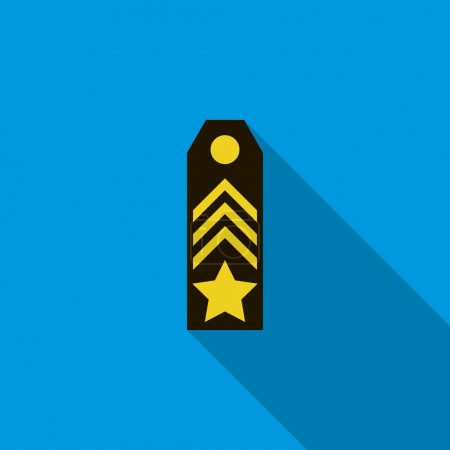 Shoulder strap icon, flat style