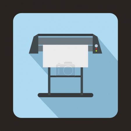 Large format inkjet printer icon, flat style