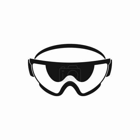 Safety glasses icon, simple style
