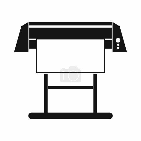 Large format inkjet printer icon, simple style