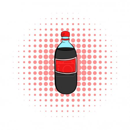Plastic bottle with a red
