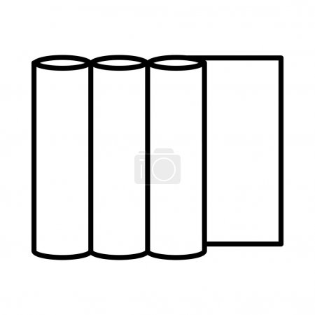 Illustration for Rolls of paper icon in outline style on a green background - Royalty Free Image