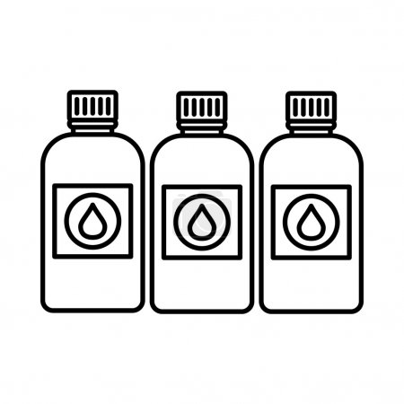 Illustration for Printer ink bottles icon in outline style isolated on white background - Royalty Free Image