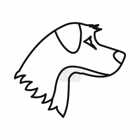 Dog icon in outline style isolated on white backgr...