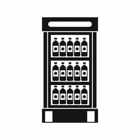 Illustration pour Réfrigérateur avec boissons icône de boissons dans un style simple illustration vectorielle isolée - image libre de droit