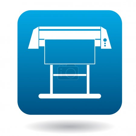 Large format inkjet printer icon in simple style