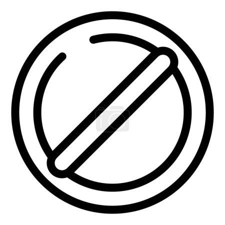 Illustration pour Icône de liste noire. Aperçu icône vectorielle de liste noire pour la conception web isolé sur fond blanc - image libre de droit