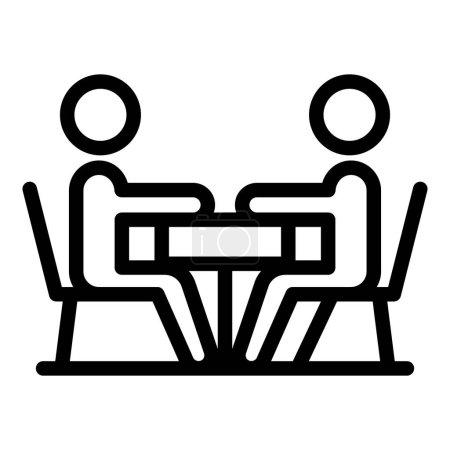 Illustration pour Icône de discussion collégiale. Aperçu Icône vectorielle de discussion collégiale pour la conception web isolée sur fond blanc - image libre de droit