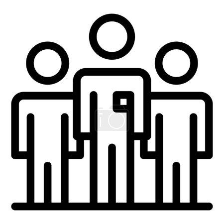 Illustration pour Icône de l'entreprise collègue. Schéma Colleague entreprise icône vectorielle pour la conception web isolé sur fond blanc - image libre de droit