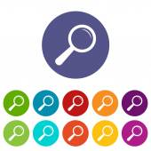 Magnifying glass flat icon