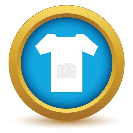 Gold tee shirt icon