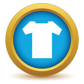 Gold tee shirt icon on a white background Vector illustration