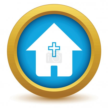Gold church icon