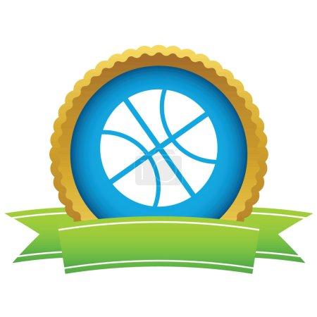 Gold basketball logo