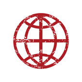 Red grunge world logo