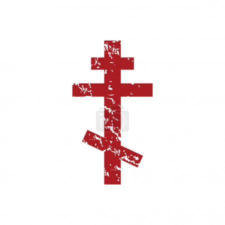 Red grunge orthodoxy logo