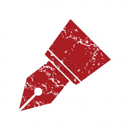 Red grunge pen logo