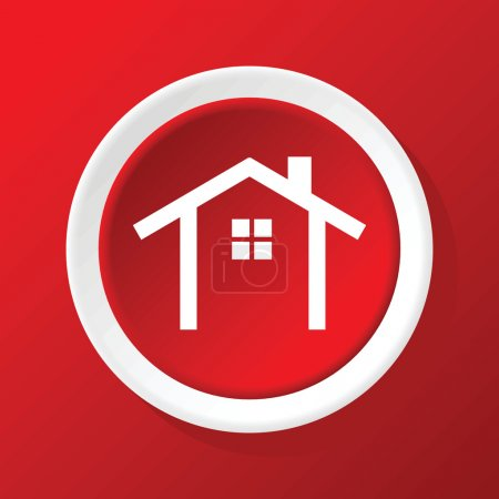 House contour icon on red