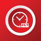 All hours icon on red
