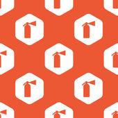 Orange hexagon fire extinguisher pattern