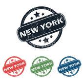 Round New York stamp set