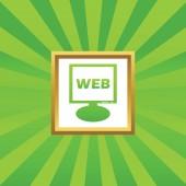 WEB monitor picture icon