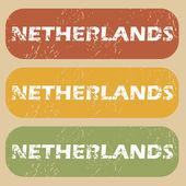 Vintage Netherlands stamp set