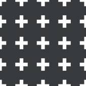Straight black plus pattern