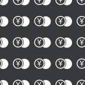Straight black yen coin pattern