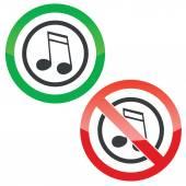 Music permission signs 2