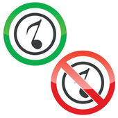Music permission signs 3