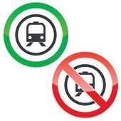 Train permission signs