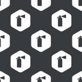 Black hexagon fire extinguisher pattern