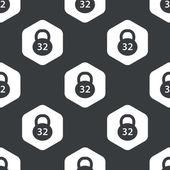 Black hexagon dumbbell pattern