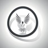 Freedom sign sticker curved