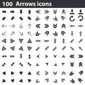 100 arrows icons set
