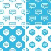 Text message patterns set